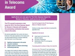 ITP Women in Telecoms Award 2015